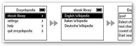 Consulta l'enciclopedia Wikipedia in italiano sul tuo iPod