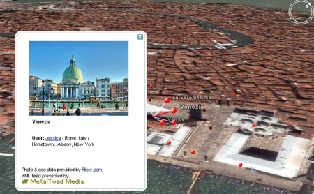 Guarda le foto Flickr con Google Earth