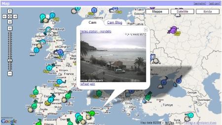 Meteo e previsioni da tutto il mondo con Google Map