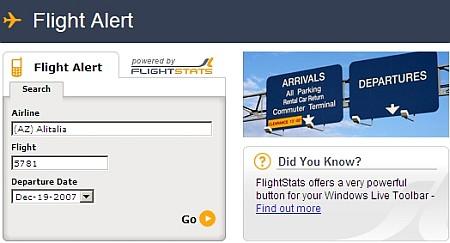 Ricevi in tempo reale notifiche sullo stato di un Volo aereo